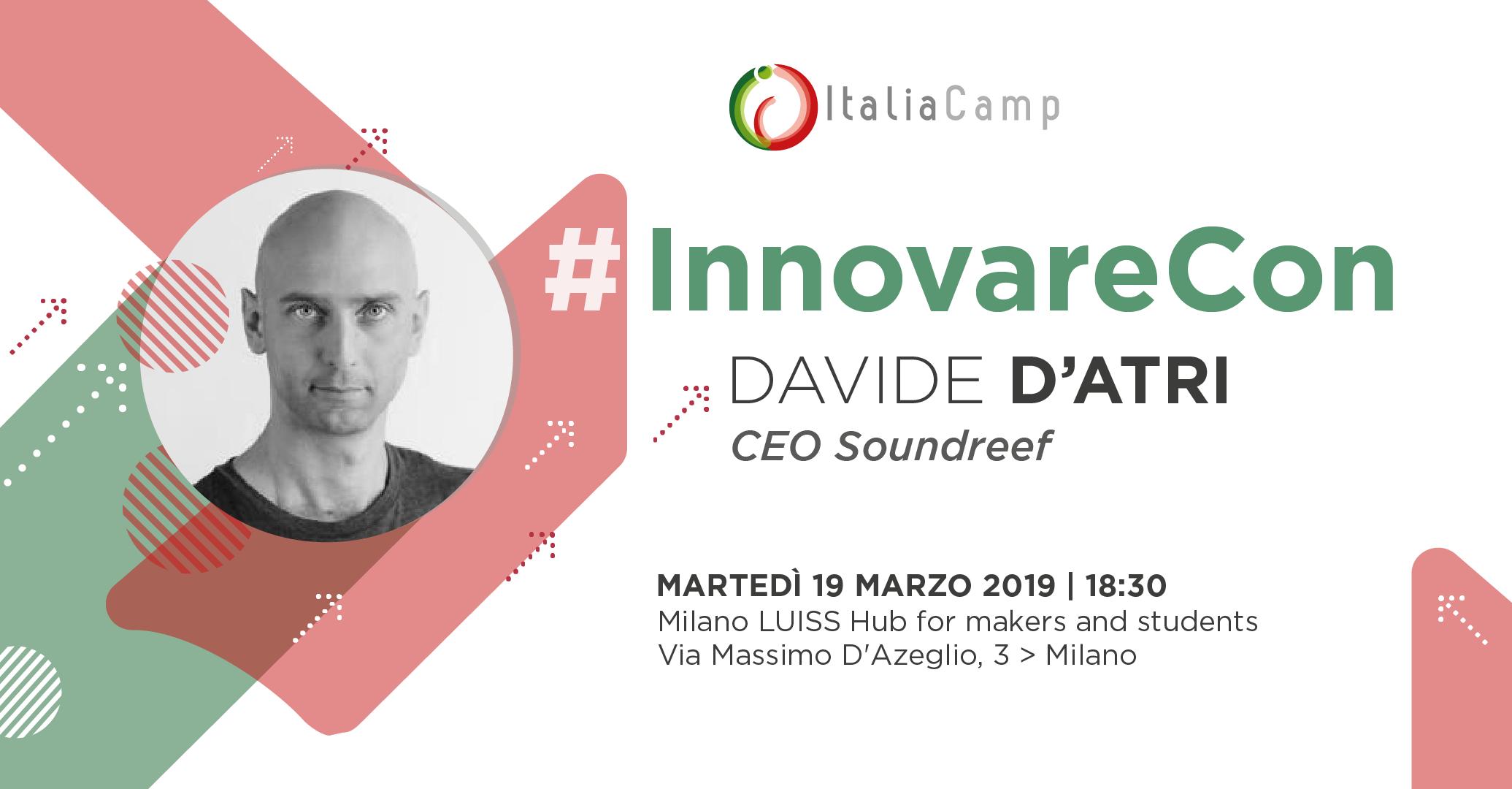 #InnovareCon Davide D'Atri al Milano LUISS Hub