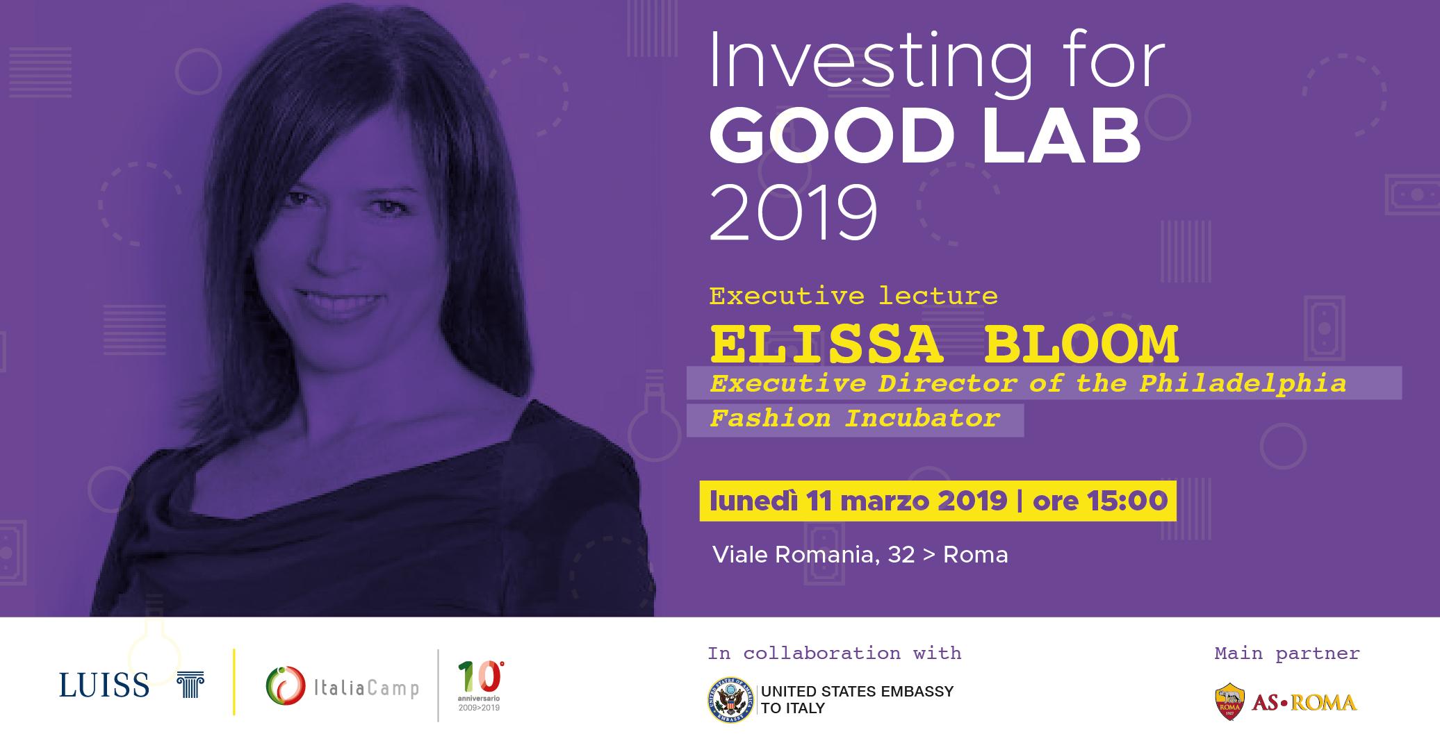 Elissa Bloom ospite dell'Investing for Good di ItaliaCamp
