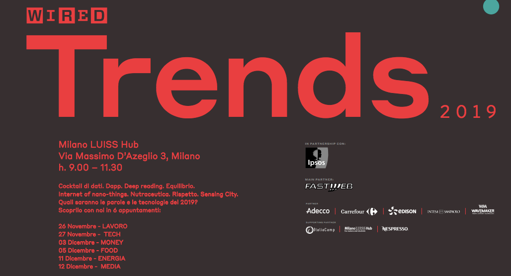 Wired Trends 2019 al Milano LUISS Hub