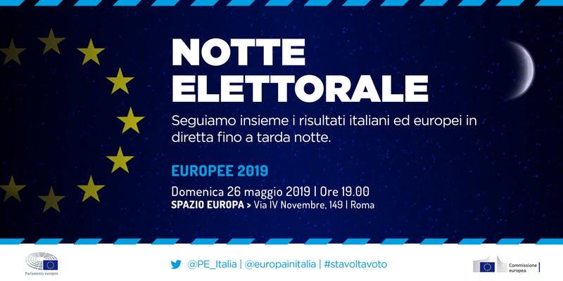 Notte elettorale europee 2019