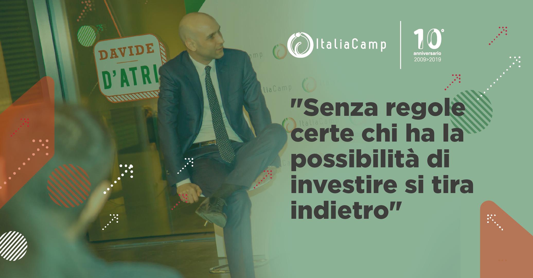 Davide D'Atri ospite di ItaliaCamp per #InnovareCon