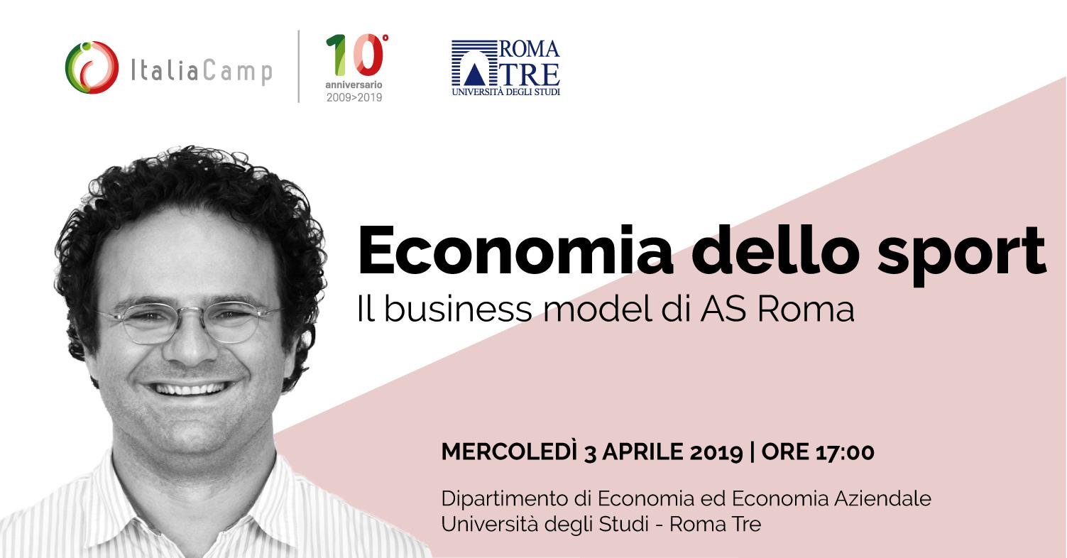 Fabrizio Sammarco ospite dell'evento Economia dello Sport