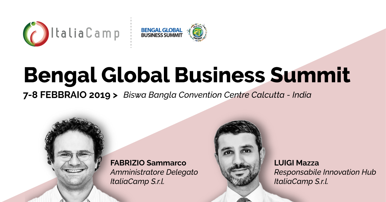 Italiacamp al Bengal Business Summit di Calcutta