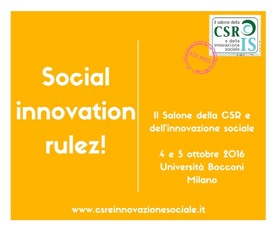 Salone CSR e innovazione sociale
