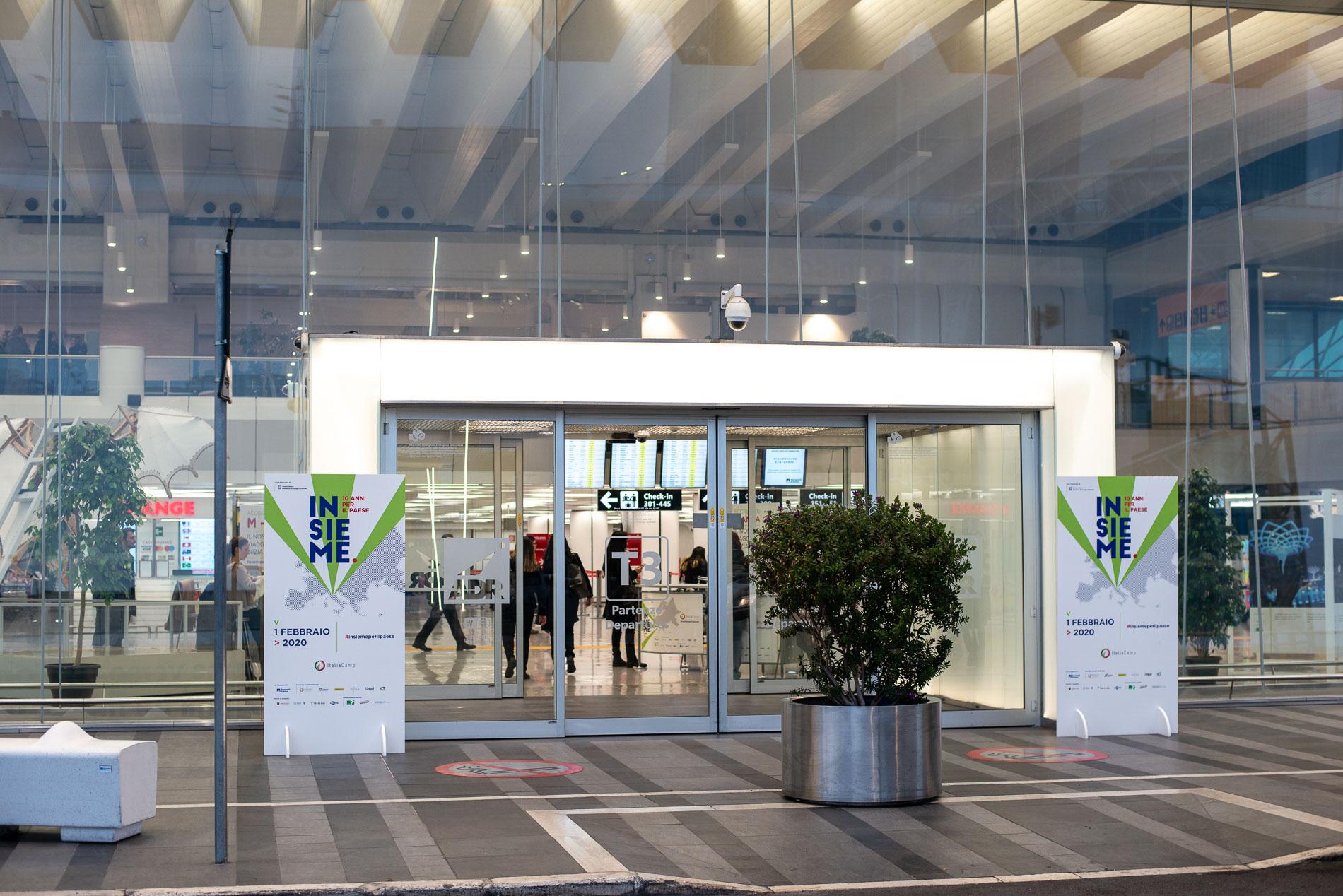 Ingresso Aeroporto Fiumicino per l'evento Insieme: 10 anni per il Paese