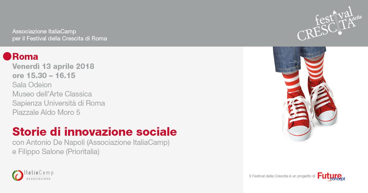L'Associazione ItaliaCamp al Festival della Crescita