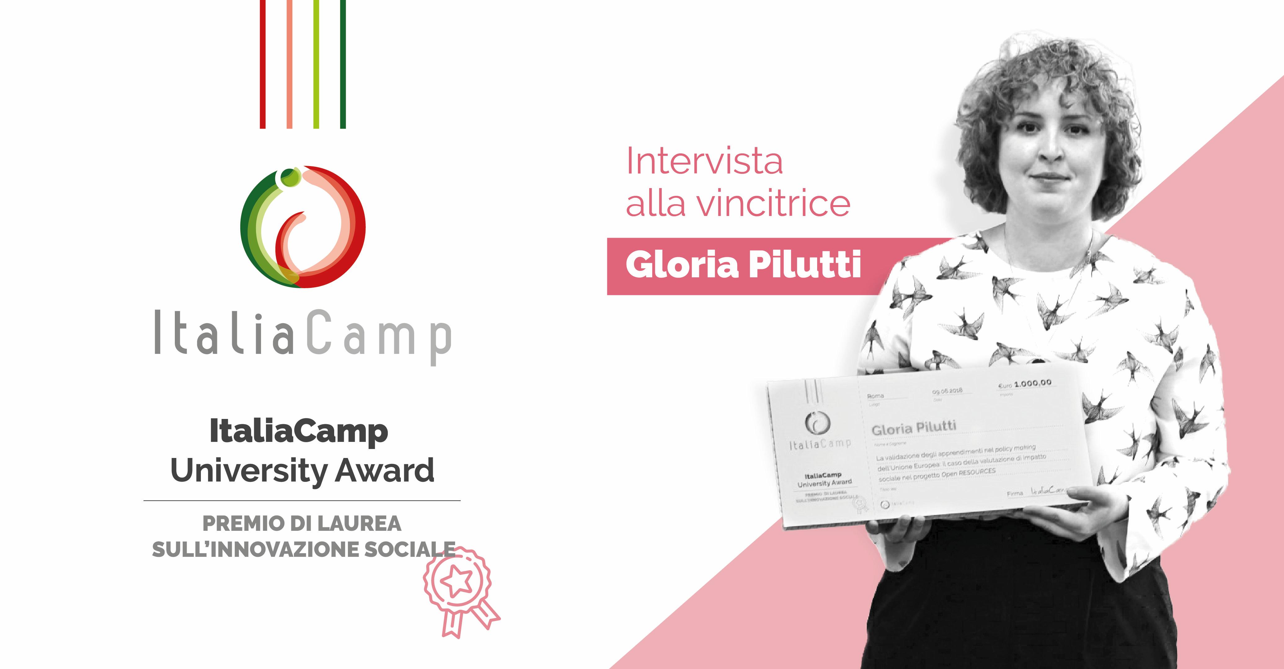 ItaliaCamp University Award intervista a Gloria Pilutti