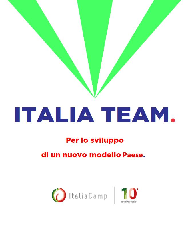 Copertina del documento sul modello degli Italia Team