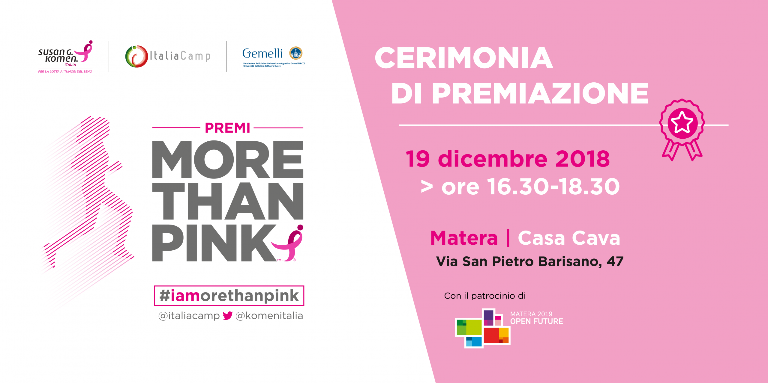 More Than Pink 2018 premiazione