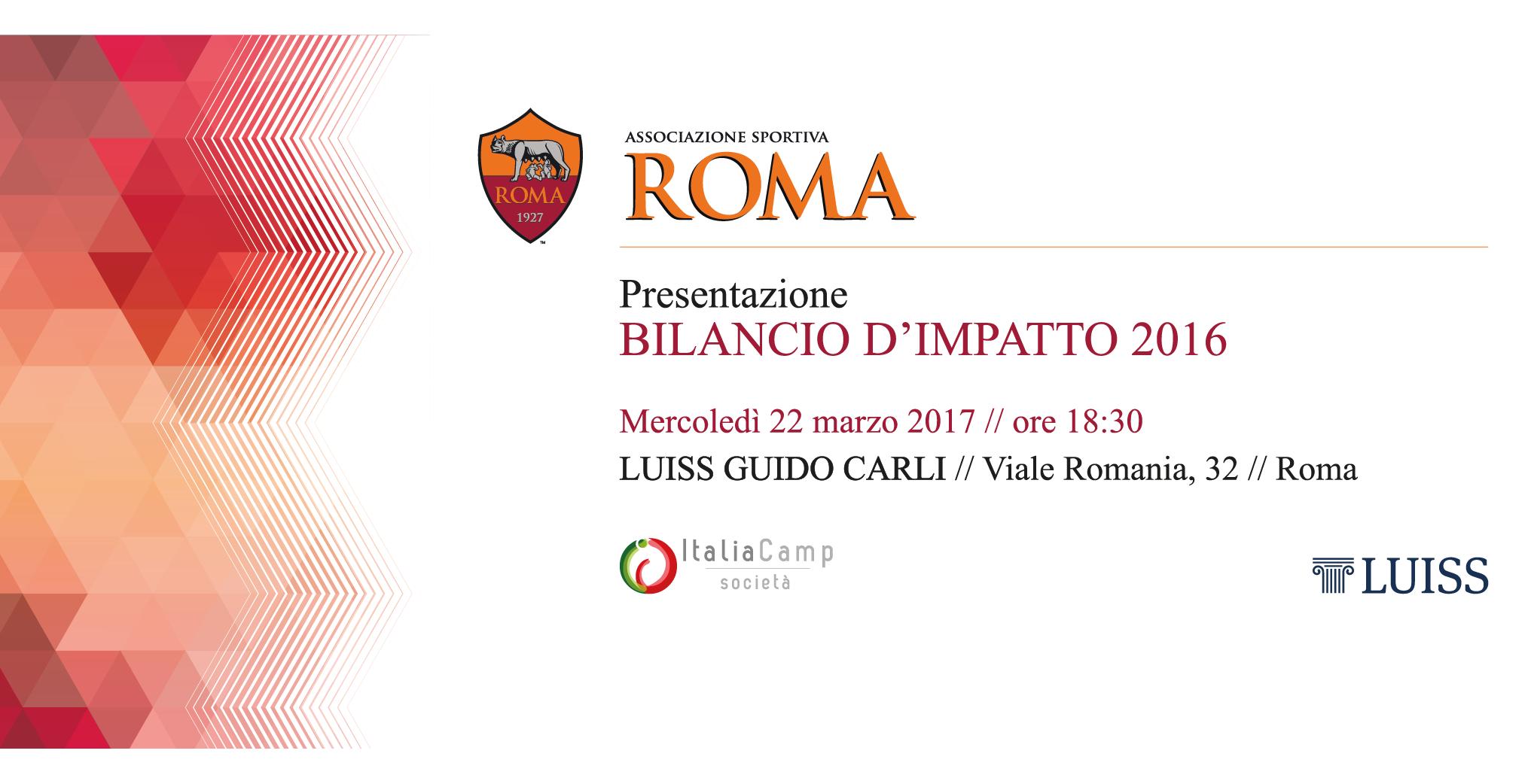 Presentazione Bilancio d'Impatto AS Roma