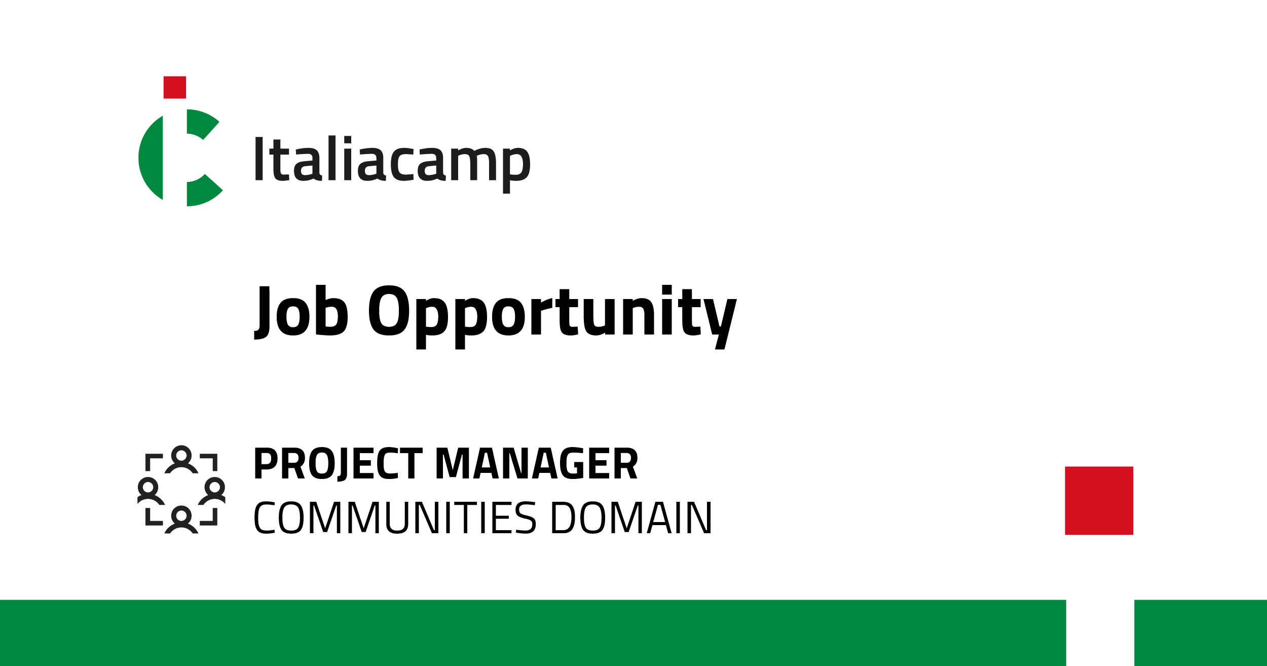 Job opportunity Project Manager Communities Domain