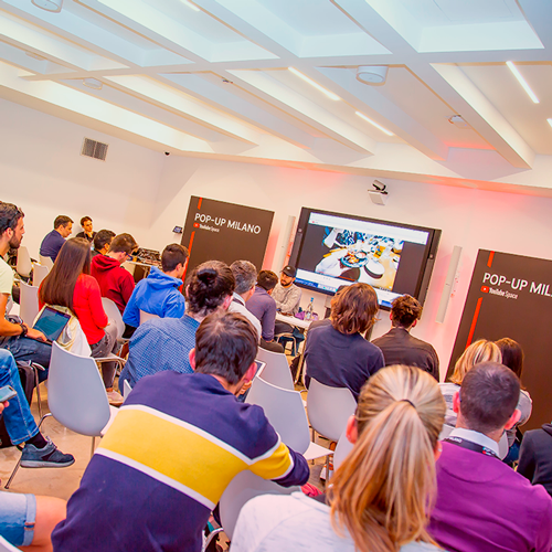 Un evento organizzato da YouTube all'interno del Milano Luiss Hub