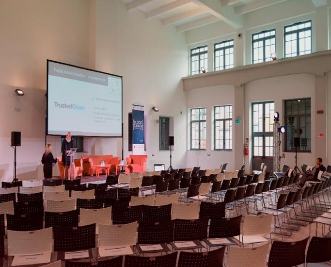 La sala conferenze dell'Open Incet