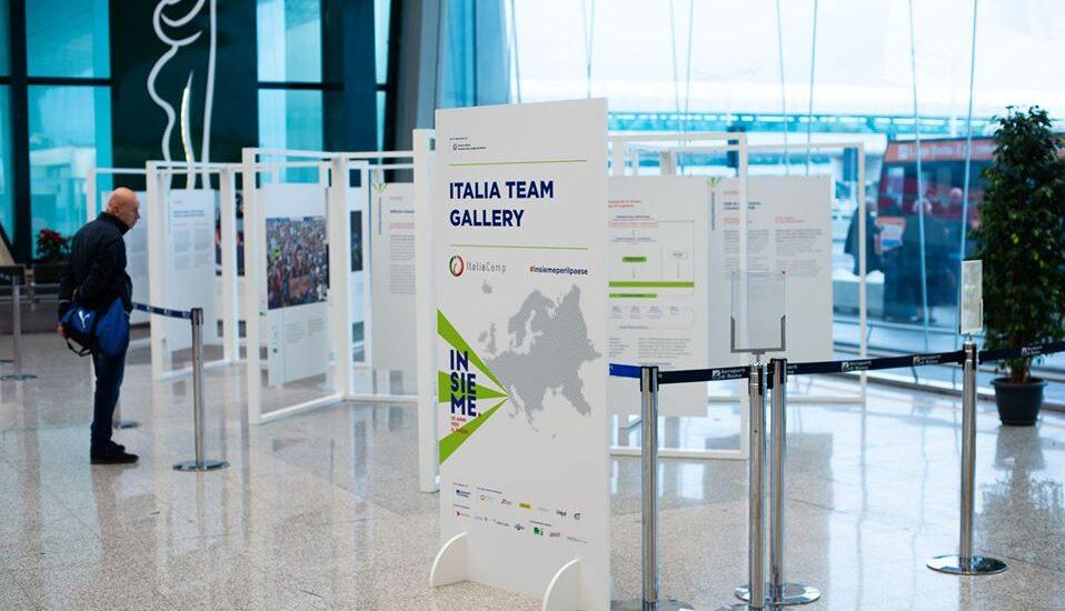 L'Italia Team Gallery allestita durante l'evento Insieme: 10 anni per il Paese
