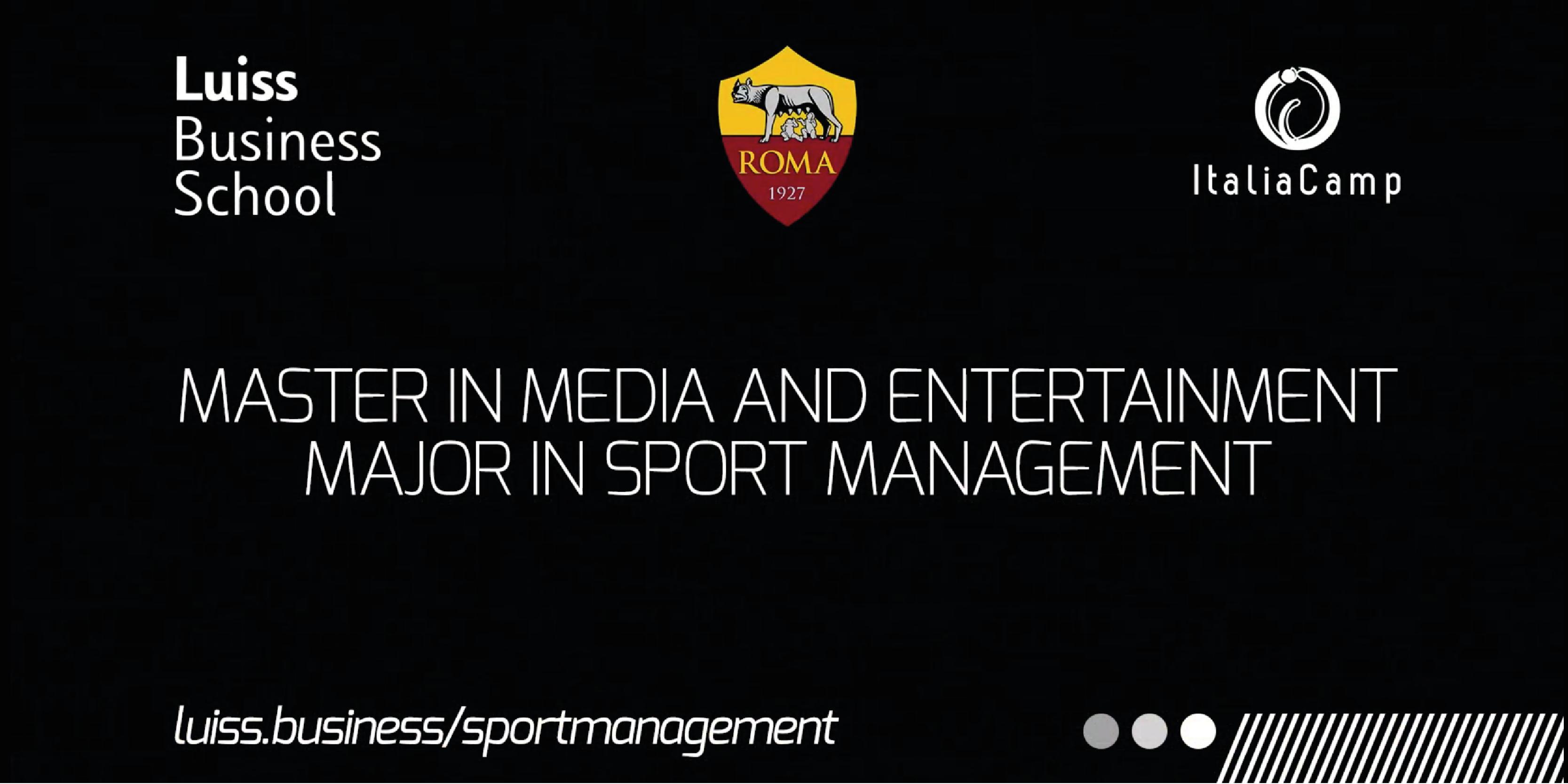 Master Universitario in Sport Management