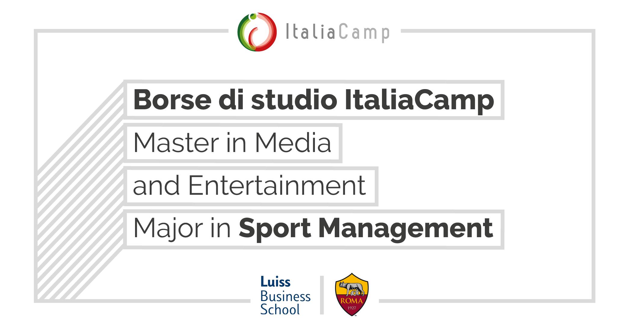 ItaliaCamp borse di studio major sport management