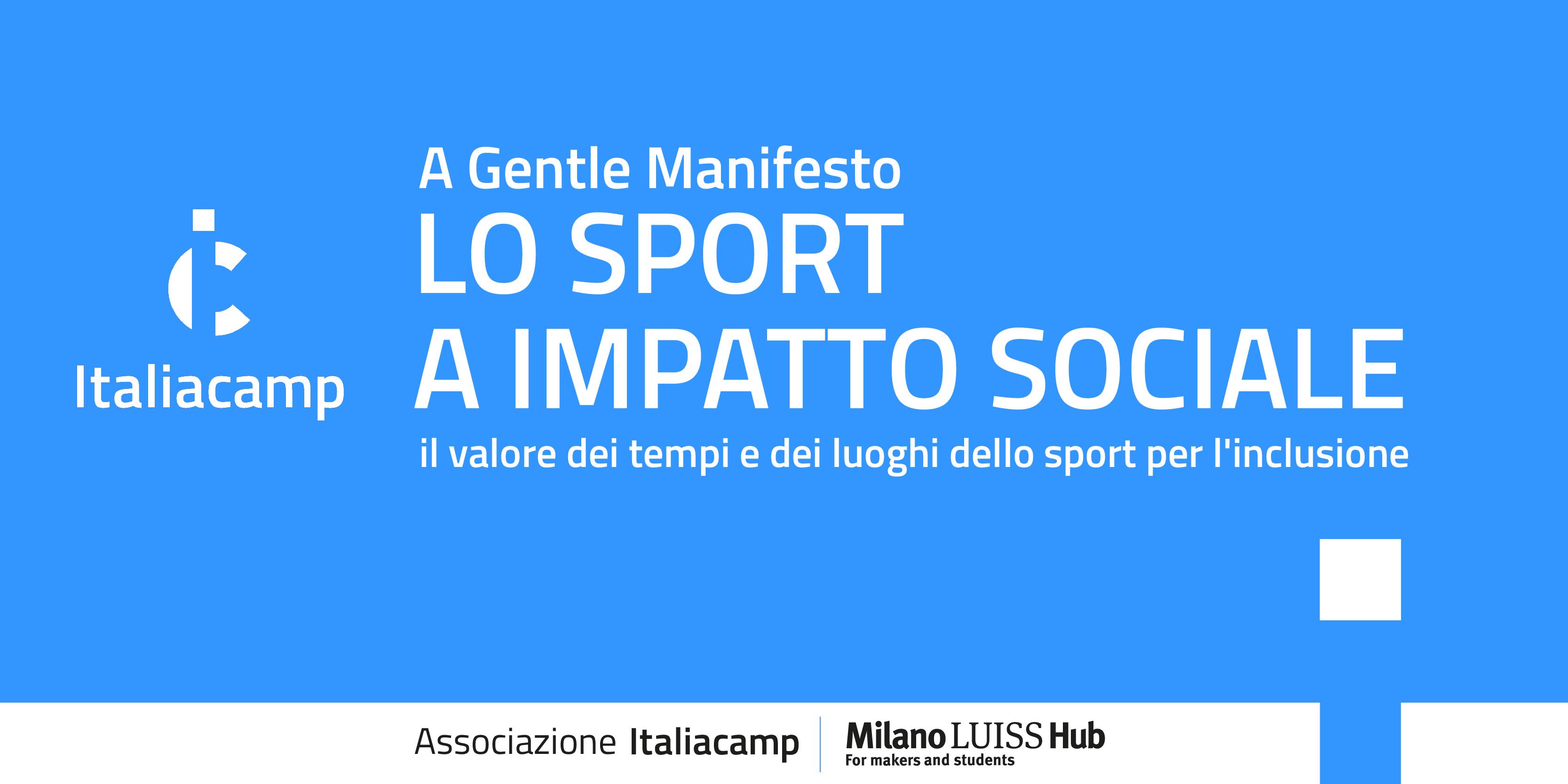 Lo sport a impatto sociale i tempi e i luoghi dello sport