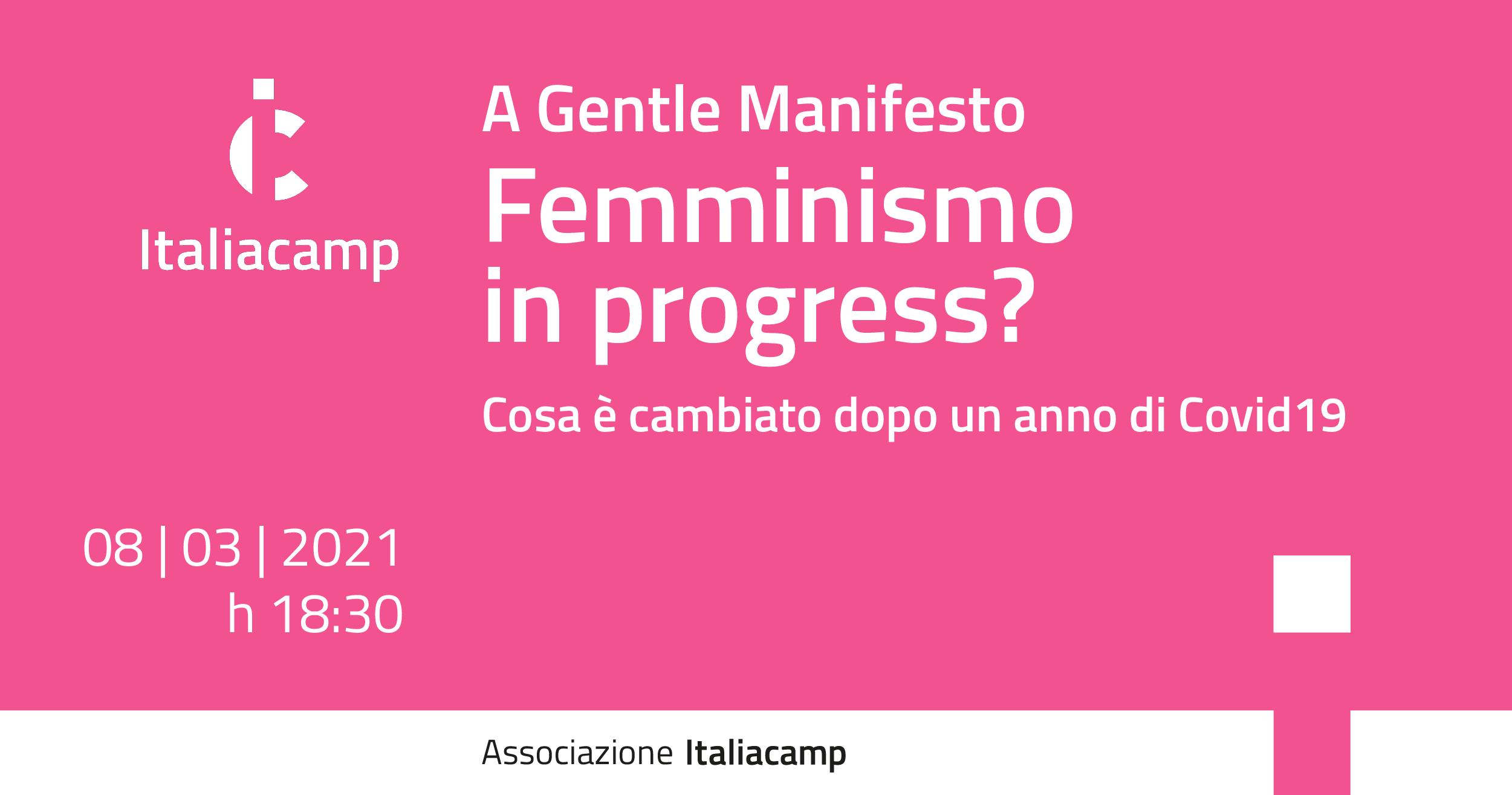 Italiacamp Femminismo in progress?