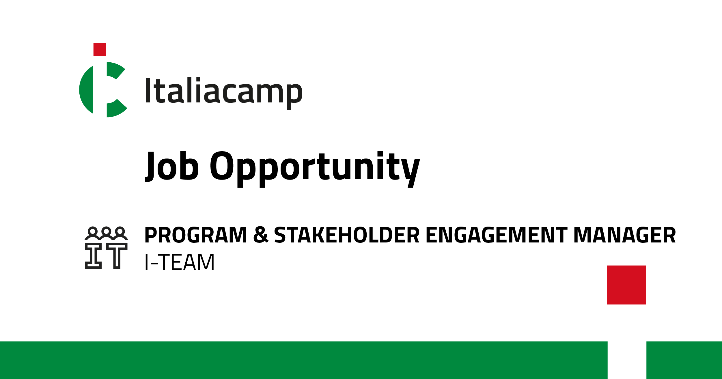 job opportunity program e stakeholder engagement manager
