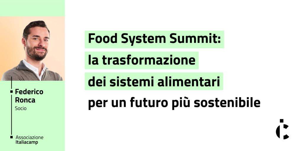 Food System Summit 2021 Italiacamp