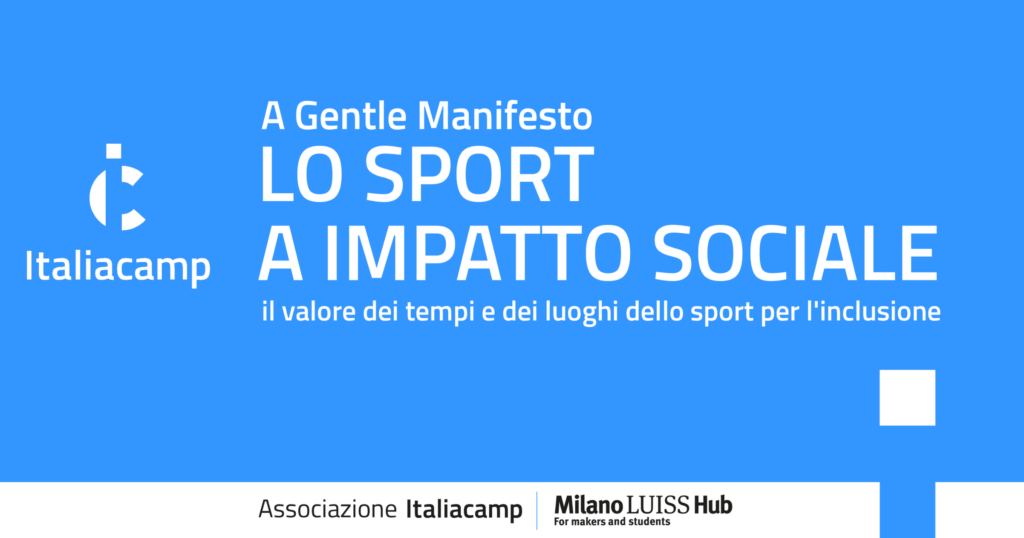 Sport impatto sociale associazione italiacamp