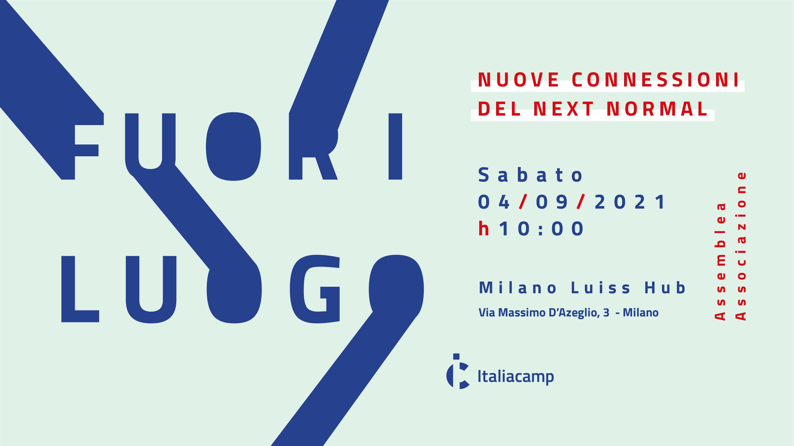 Fuori luogo Assemblea 2021 Associazione Italiacamp