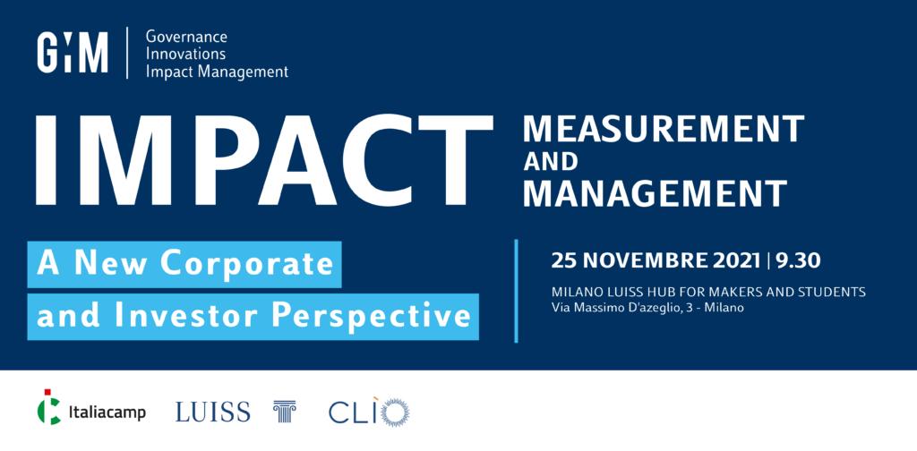 Impact Measurement and Management Giim Italiacamp Milano Luiss Hub